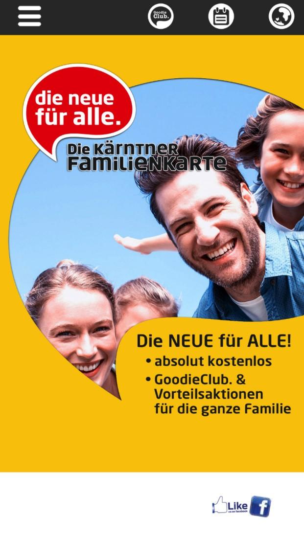 Kärntner Familienkarte features